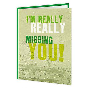 Brainbox Candy Really Missing You Card