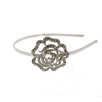 W.A.T Swarovski Crystal Open Flower Hairband