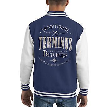 Terminus slagers licht Walking Dead Kid's Varsity Jacket
