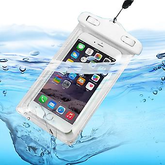 ONX3 (White) Apple iPhone 6 Plus / iPhone 6s Plus Universal Durable Underwater Dry Bag, Touch Responsive Transparent Windows, Watertight Sealed System Pouch