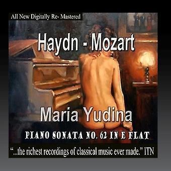 Haydn / Mozart / Yudina, Maria - Klaver Sonata nr 62 i E-flade [CD] USA import