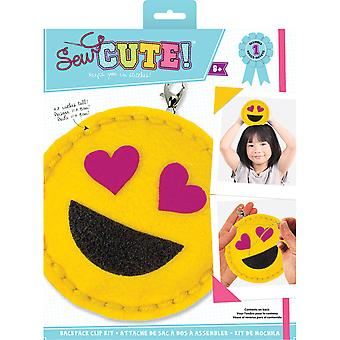 Sew Cute! Mini Felt Kit-Emoji Heart Eyes SEWMINI-73612