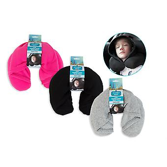 Kids Hooded Travel Neck Pillow Hoodie Travel Pillow Holiday Comfort Neck Cushion