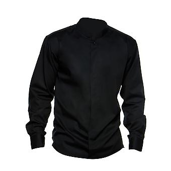 Bargear� Mens Long Sleeved Mandarin Collar Bar Shirt / Mens Shirts