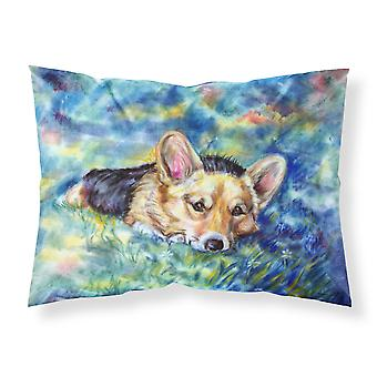 Corgi Tuckered Out Fabric Standard Pillowcase