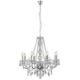 Searchlight 8888-8CL Marie Therese 8 Light Clear Acrylic Chandelier