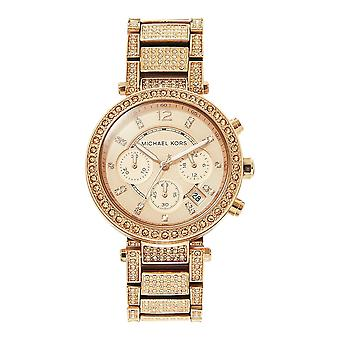 Michael Kors Watches Mk5663 Parker Rose Gold Glitz Ladies Watch