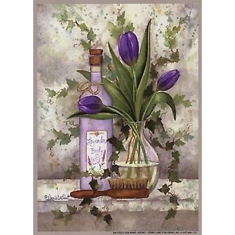 Impresión de cartel de aceite corporal lavanda por Annie Lapoint (5 x 7)