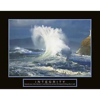Integrity - Wave Poster Print (28 x 22)