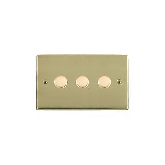 ハミルトン Litestat ・ チェリトン ビクトリア磨かれた真鍮 3 g 100 w LED 調光器 PB