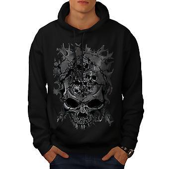 Death Skull Evil Skelet Men BlackHoodie   Wellcoda