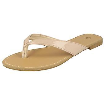 Ladies Spot On Toe Post Sandals F0595