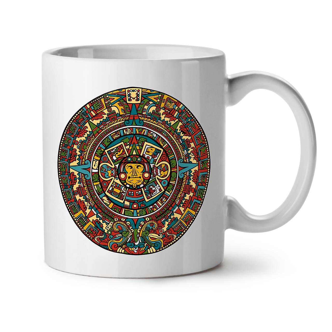 Aztec Traditionnel Céramique Tasse Thé OzWellcoda Nouveau Café Blanc 11 fy6vgYb7