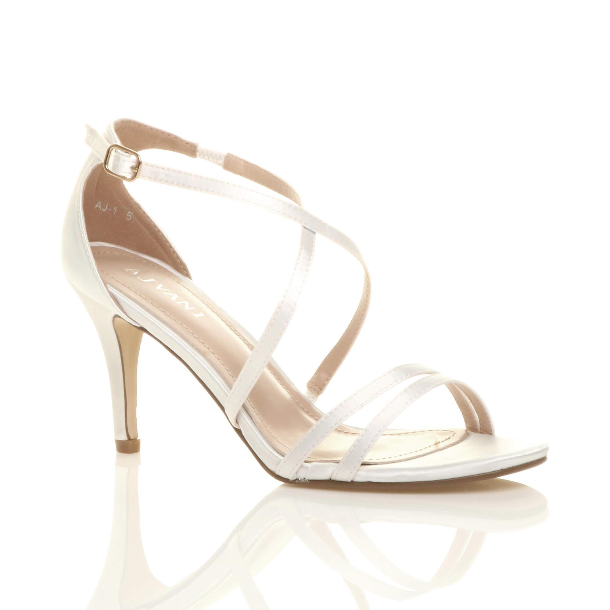 Ajvani womens mid low high heel strappy crossover shoes:Trend:Gentlemen/Ladies party wedding prom sandals shoes:Trend:Gentlemen/Ladies crossover fefd4f