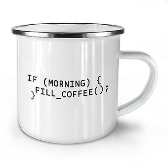 Programmierer Motto neue WhiteTea Kaffee Emaille Mug10 oz   Wellcoda