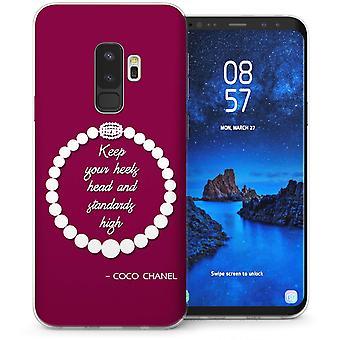 S9 Samsung Galaxy Plus Chanel cotizar Gel de TPU – rojo