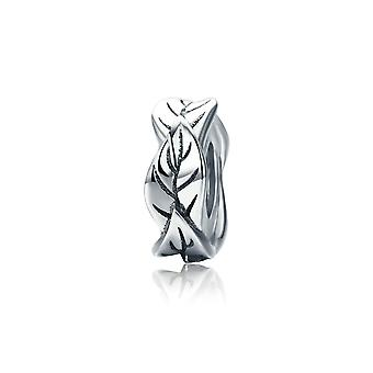 Sterling silver charm Leaves SCC597