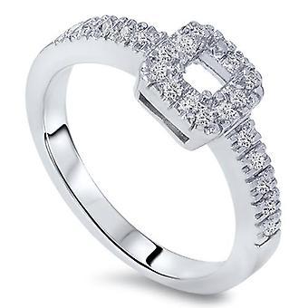 3 / 8ct Princess-Schliff Diamant-Verlobungsring Einstellung 14K