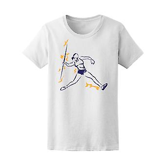 Elektrifizieren Sport Javelin Werfer Tee Frauen-Bild von Shutterstock