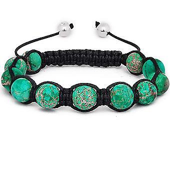 Marcrame unisex bracelet - GREEN STONE
