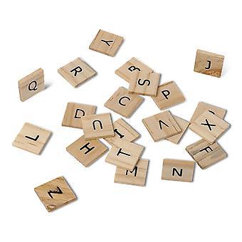 Lettres de métier en bois jeu de Scrabble 60 lettres Alphabet mariage