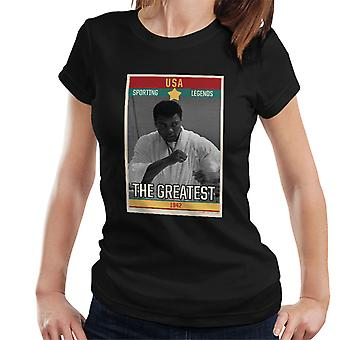 Sporting Legends Poster USA Muhammad Ali The Greatest 1942 Women's T-Shirt