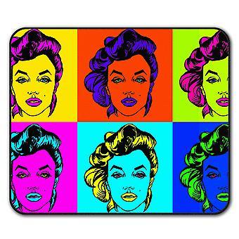 Legend Celebrity Marilyn  Non-Slip Mouse Mat Pad 24cm x 20cm | Wellcoda