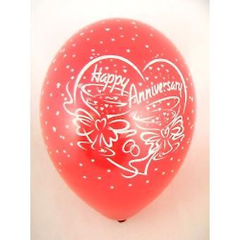 Balloner 'Tillykke med JUBILÆET' rød 12
