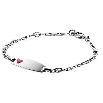 Orphelia sølv 925 børn armbånd rødt hjerte ZA-6069