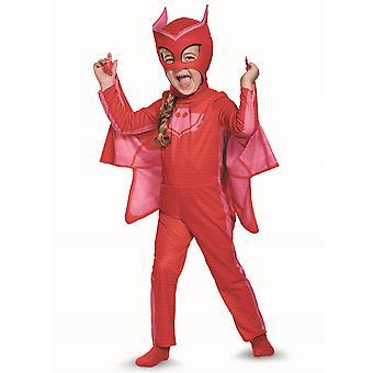 Owlette классический красный PJ маски Pjmasks супергероя платье вверх девочек костюм S