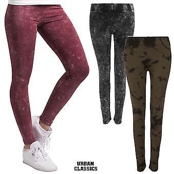 Urban classics ladies acid wash leggings