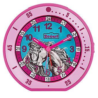 Scout children alarm clock alarm girl minute horse pink 280001003