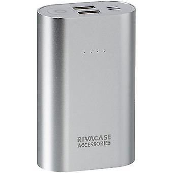 Rivacase RivaPower Li-ion Aluminium Body Portable Rechargeable Battery 10000mAh Silver (VA1010)
