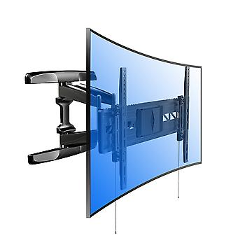 Fleximounts R2 For Both Flat Panel And Curved Panel UHD HD TV Wall Mount Bracket Articulating Arm Swivel & Tilt for most of 32-70 Inches LED, LCD, Plasma