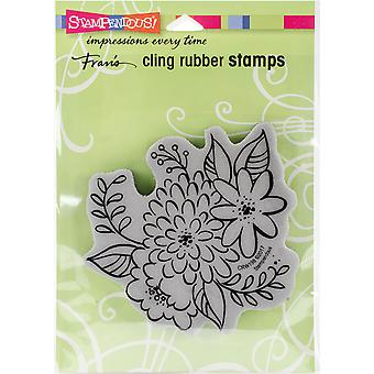 Stampendous Cling Stamp -Mum Blossoms
