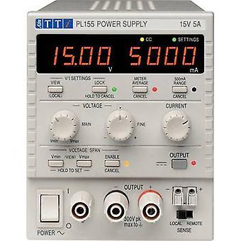 Aim TTi PL155 Bench PSU (adjustable voltage) 0 - 15 Vdc 0 - 5 A 75 W No. of outputs 1 x