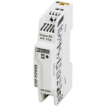 Phoenix Contact STEP-PS/1AC/24DC/0.5 Rail mounted PSU (DIN) 24 Vdc 0.55 A 18 W 1 x