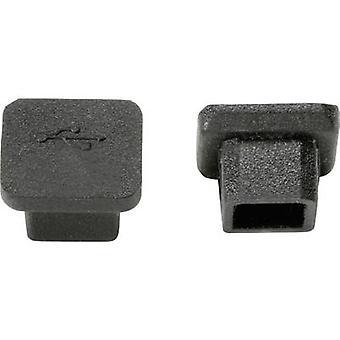 PB Fastener CP-USB-B USB port cap Silicone Black 1 pc(s)