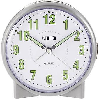 Eurochron S139C2 quarzo sveglia argento