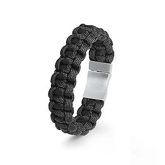 s.Oliver jewel mens bracelet nylon black stainless steel 2022614