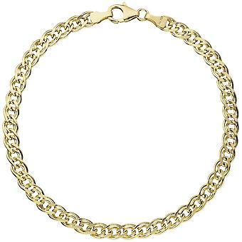 Twin tank bracelet 585 gold yellow gold 21 cm bracelet gold clasps