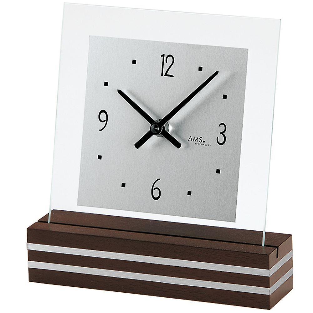 De Base Bois Quartz Peint Aluminium D'horloge Demande Couleur Noyer Tableau RL34qc5AjS