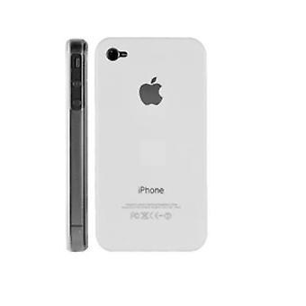 IPhone 4 & 4S Hard Plastic Cover Back Case with Apple Logo - White