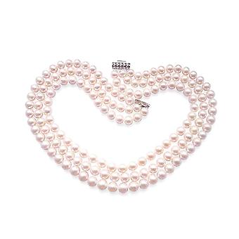 Necklace Jackie Kennedy in white and Silver 925 pearls