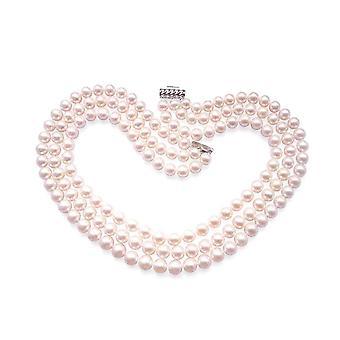 Ожерелье Джеки Кеннеди в белом и серебро 925 жемчуг
