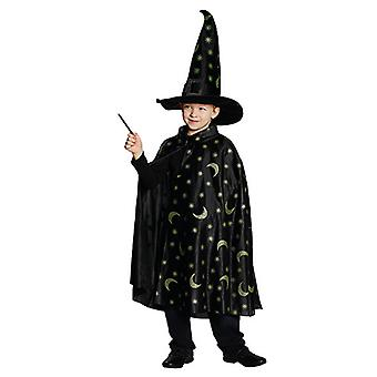 Zauber-Cape Magier Zauberer Kostüm für Kinder
