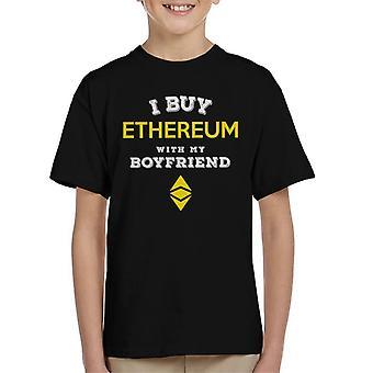 I Buy Ethereum With My Boyfriend Kid's T-Shirt