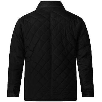 デューク D555 メンズ ジャスティン大きな背の高いキング サイズ フリース裏地圧縮冬ジャケット ブラック