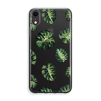 caso del iPhone XR Transparant (suave) - Tropical deja