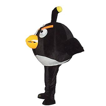 mascot SPOTSOUND of big black and white, of the popular game Angry Birds bird